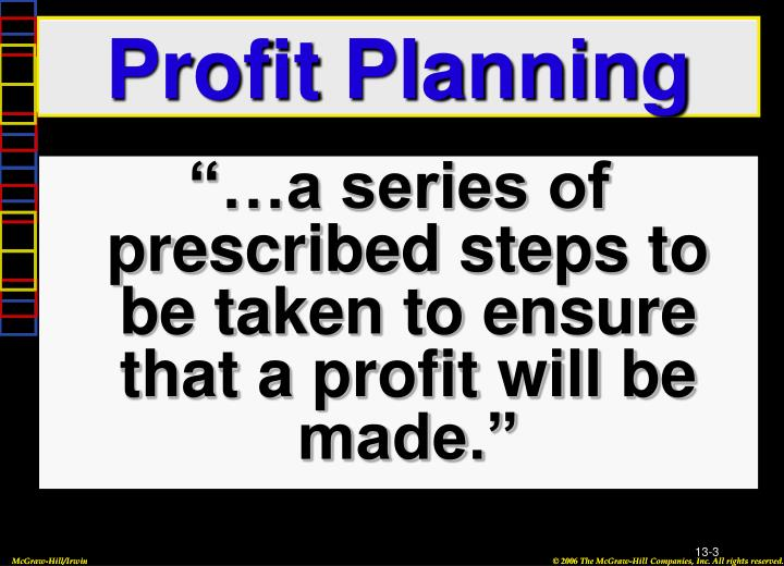 Profit planning1