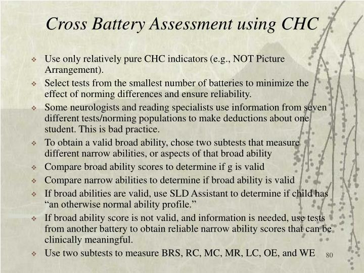 Cross Battery Assessment using CHC