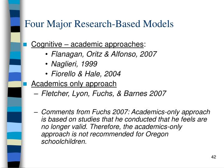 Four Major Research-Based Models