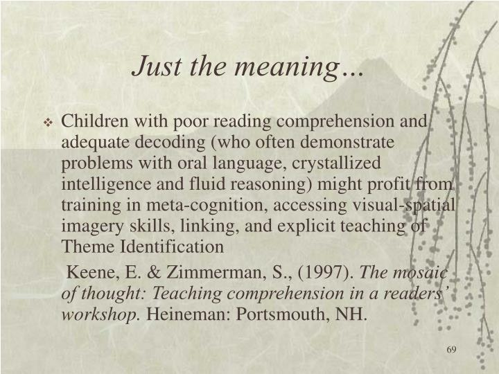 Just the meaning…