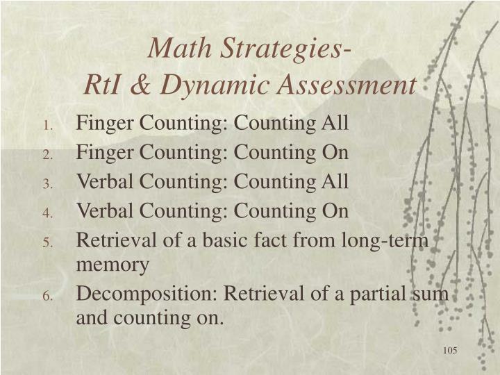 Math Strategies-