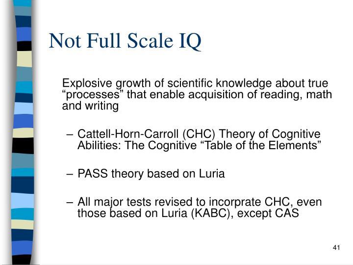 Not Full Scale IQ