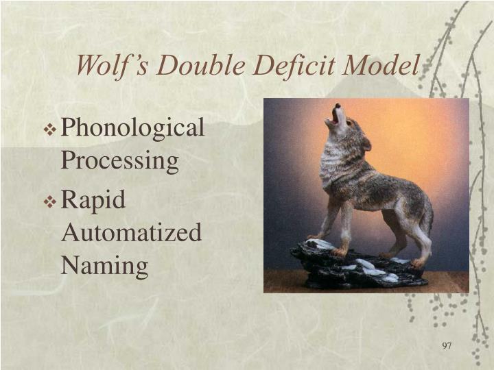 Wolf's Double Deficit Model