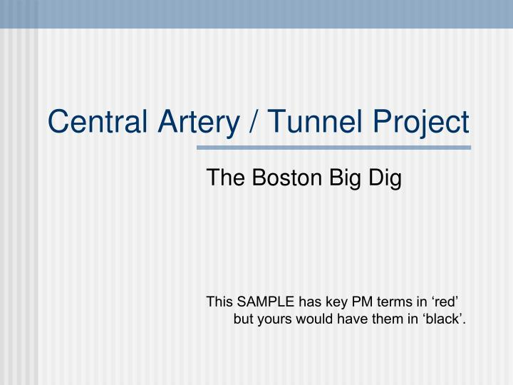 central artery tunnel project n.
