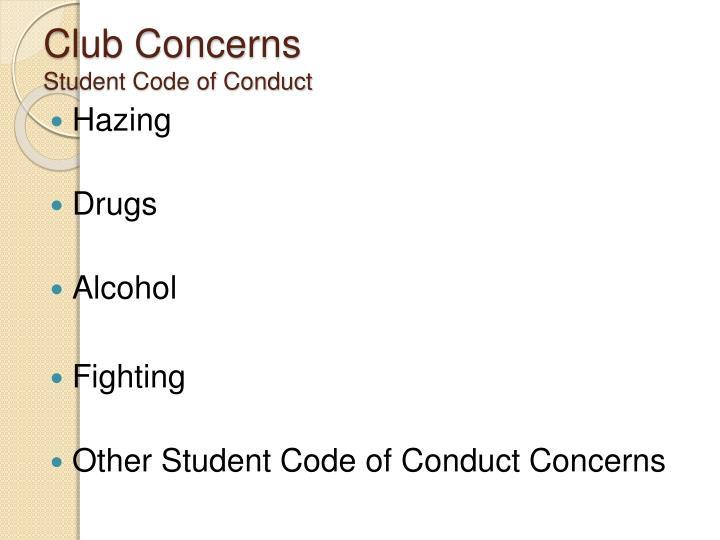 Club Concerns