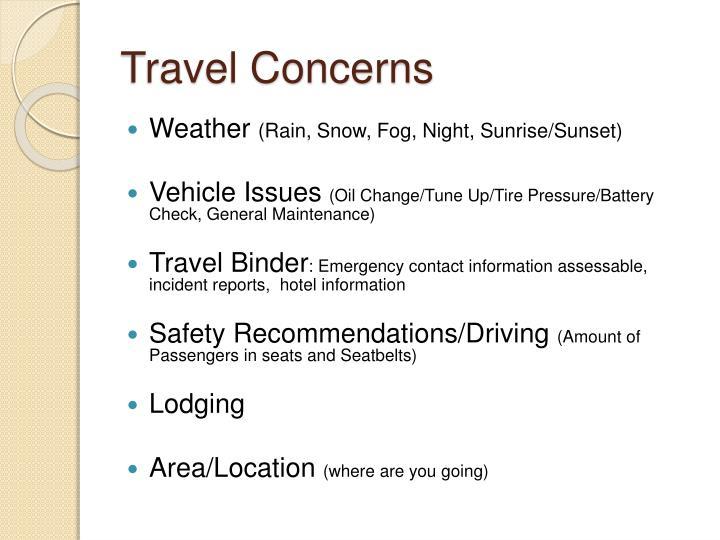 Travel Concerns