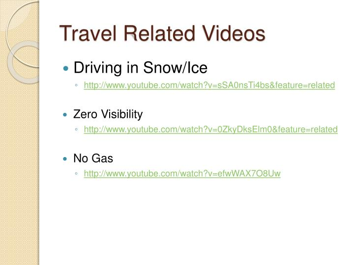 Travel Related Videos