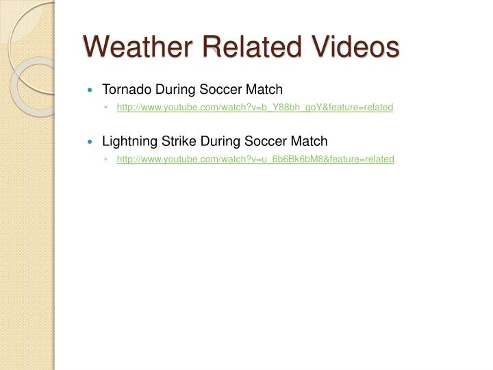 Weather Related Videos