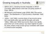 growing inequality in australia
