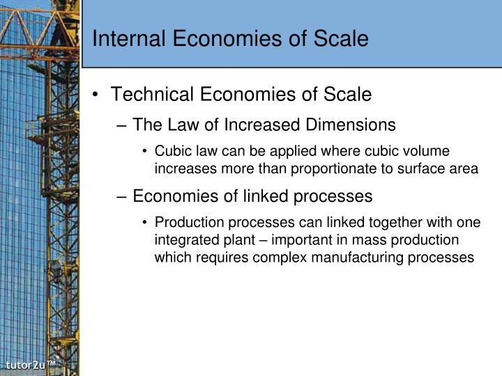 technical economies of scale