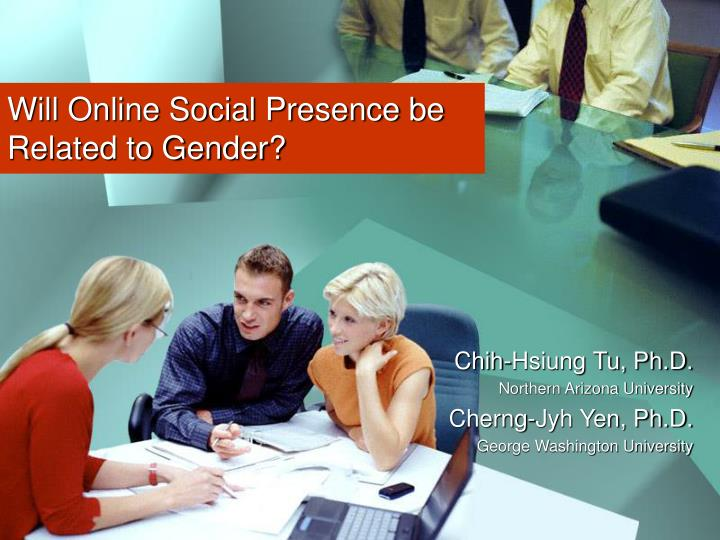 will online social presence be related to gender n.