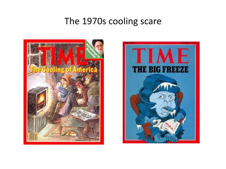 The 1970s cooling scare