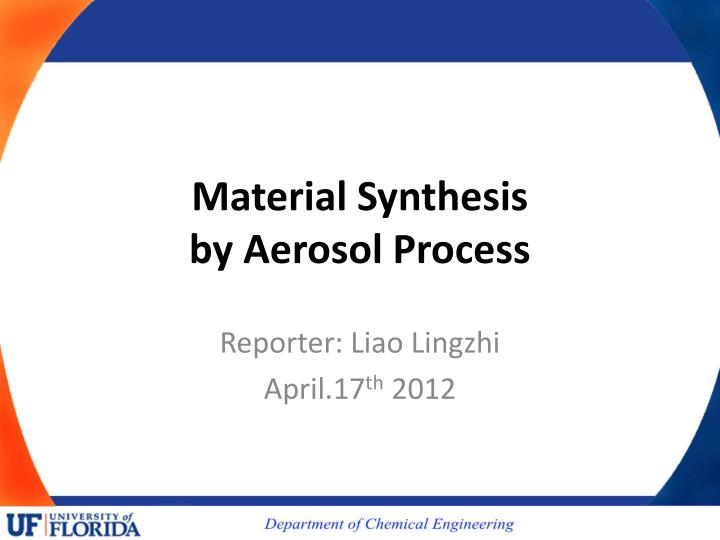 material synthesis by aerosol process n.