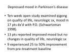 depressed mood in parkinson s disease