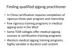 finding qualified qigong practitioner