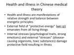 health and illness in chinese medical theory