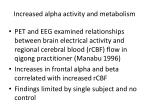 increased alpha activity and metabolism