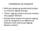 limitations on research