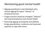 maintaining good mental health