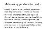 maintaining good mental health1