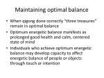 maintaining optimal balance