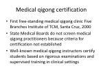 medical qigong certification