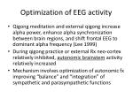 optimization of eeg activity