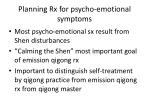 planning rx for psycho emotional symptoms
