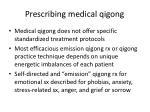 prescribing medical qigong