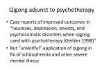 qigong adjunct to psychotherapy