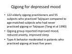 qigong for depressed mood