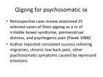 qigong for psychosomatic sx