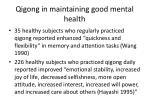 qigong in maintaining good mental health
