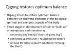 qigong restores optimum balance