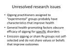 unresolved research issues