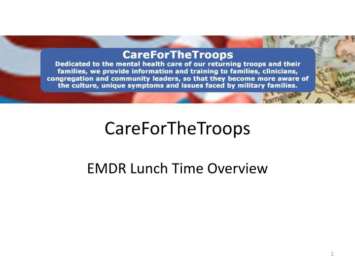 careforthetroops emdr lunch time overview n.