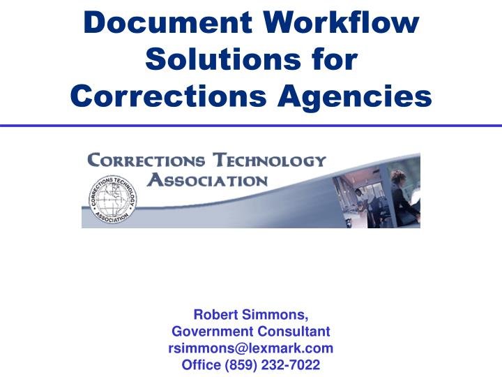 document workflow solutions for corrections agencies n.