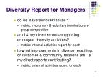 diversity report for managers1