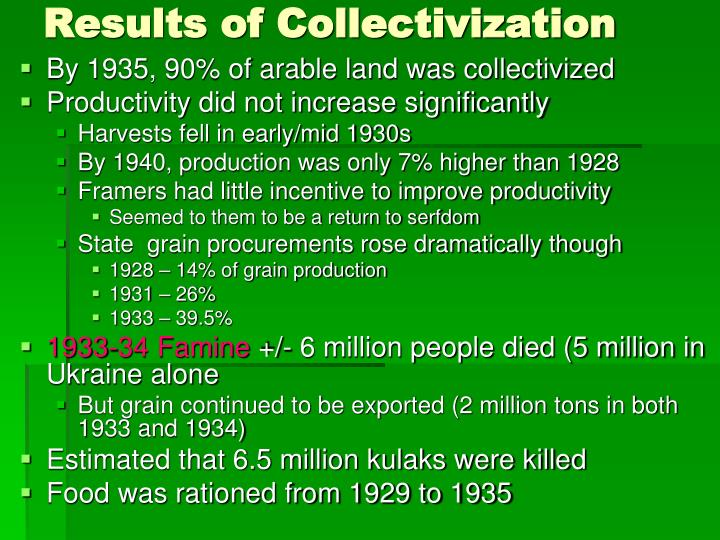 Results of Collectivization