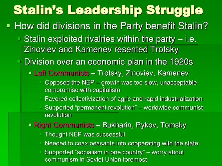 Stalin's Leadership Struggle