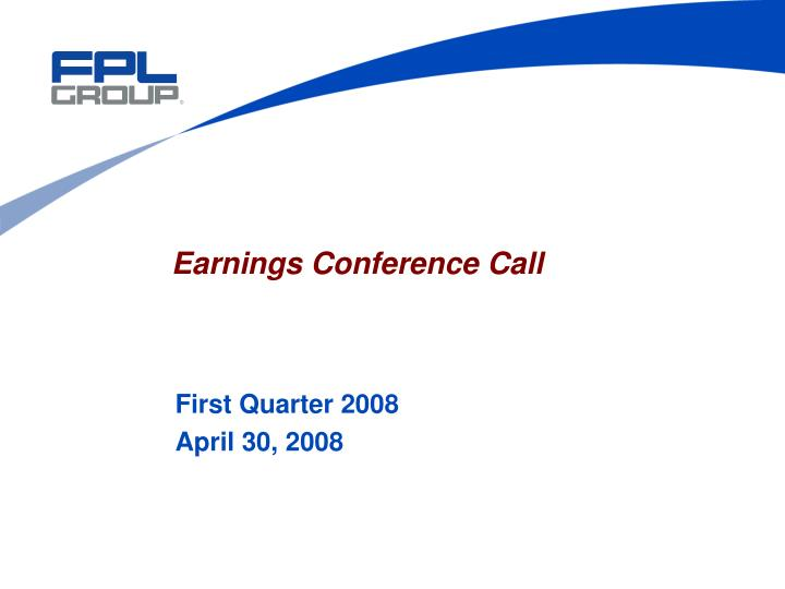 earnings conference call n.