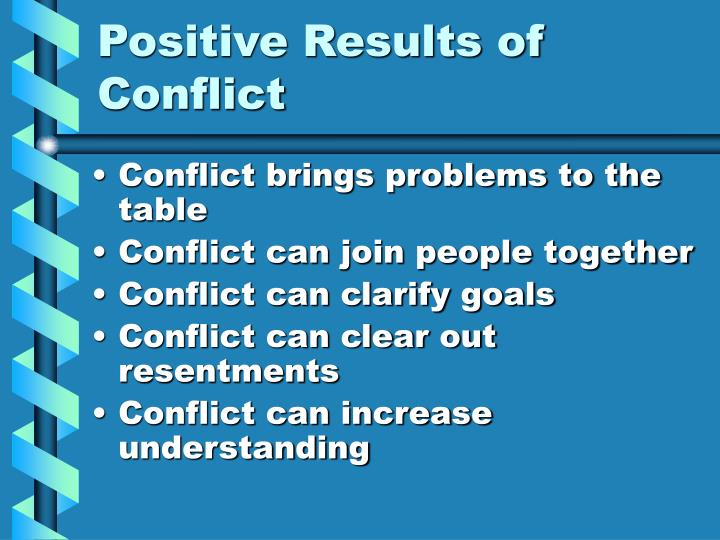 Positive Results of Conflict