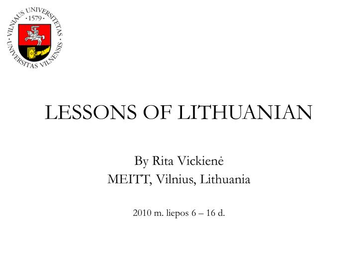 lessons of lithuanian n.