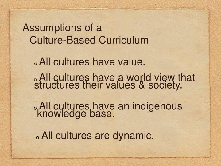 Assumptions of a