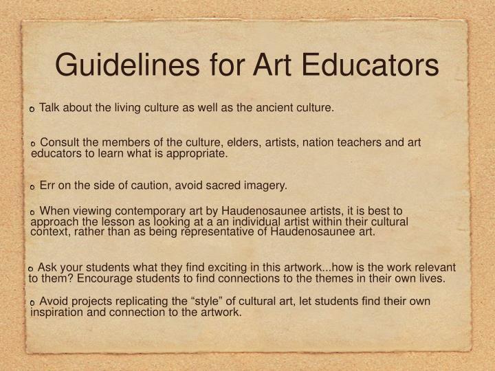 Guidelines for Art Educators