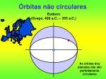 rbitas n o circulares