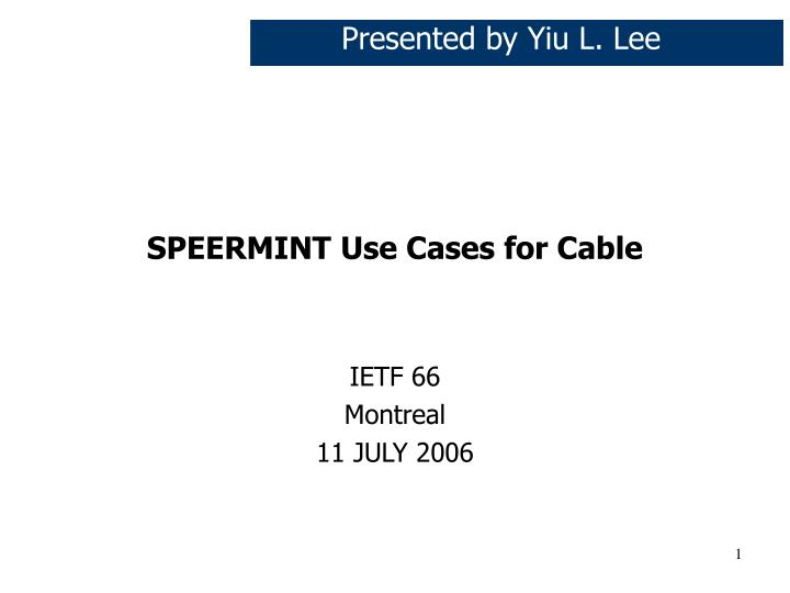 speermint use cases for cable n.