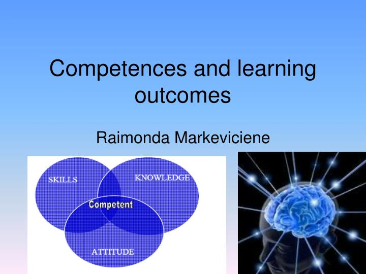 competences and learning outcomes n.