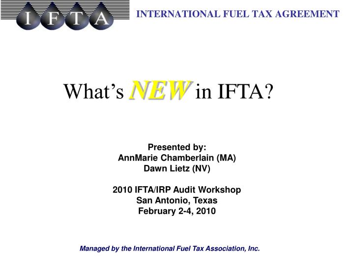what s new in ifta n.