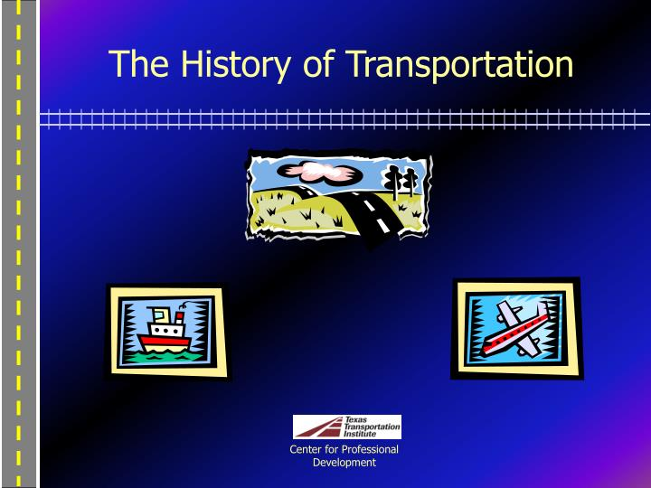 the history of transportation n.